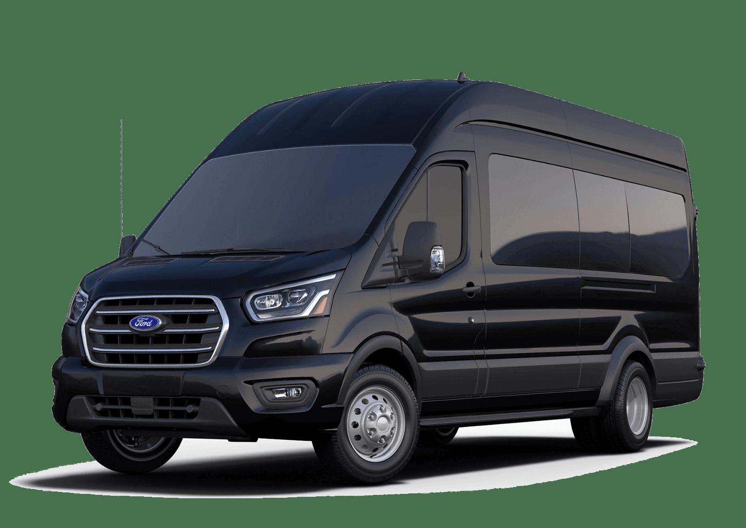 Black Ford Passenger Van